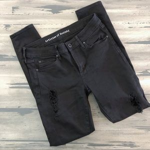 Articles of Society Black Distressed Skinny Jeans